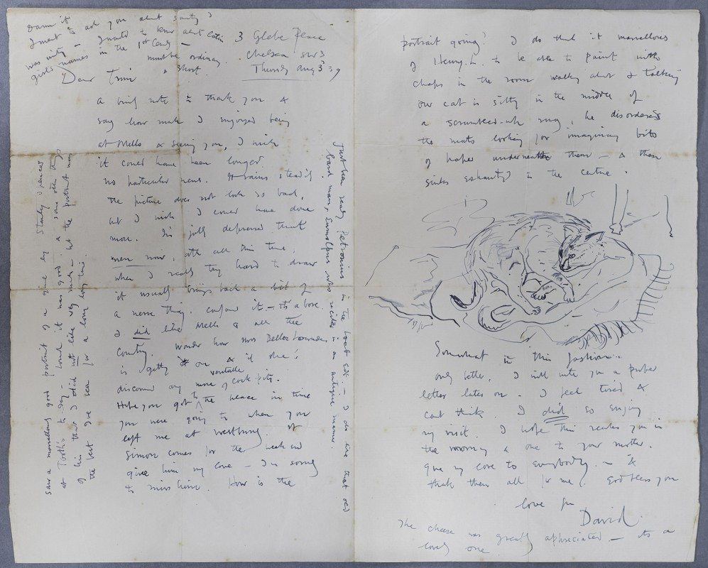Illustrated letter to Julian Asquith, 3 August 1939