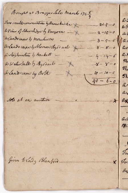 Petworth House: 2nd Earl's Notebook 1749