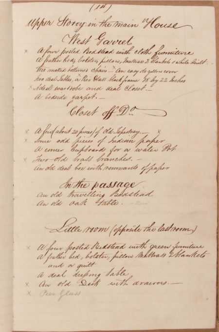 1825 Castle Howard Inventory